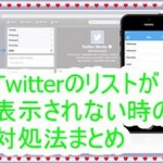 [Twitterの不具合]リストが表示されない時の対処法